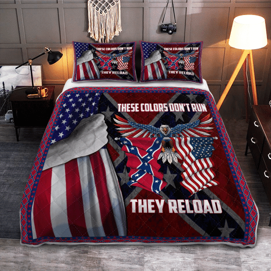 These colors dont run they reload Quilt bedding set4