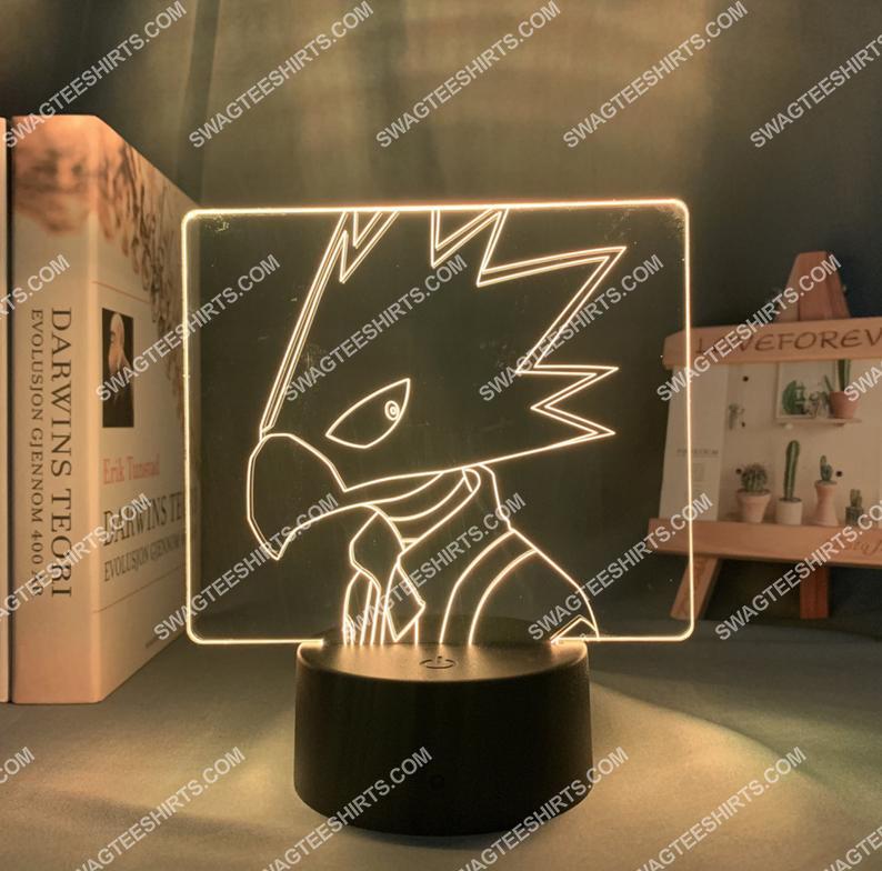 Tokoyami fumikage my hero academia anime 3d night light led 21