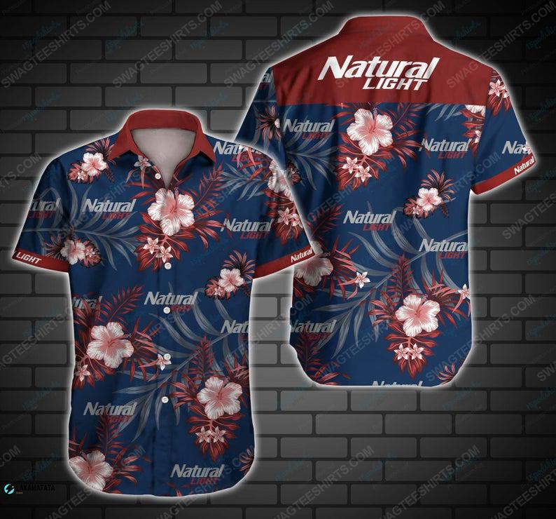Tropical natural light beer summer vacation hawaiian shirt 1