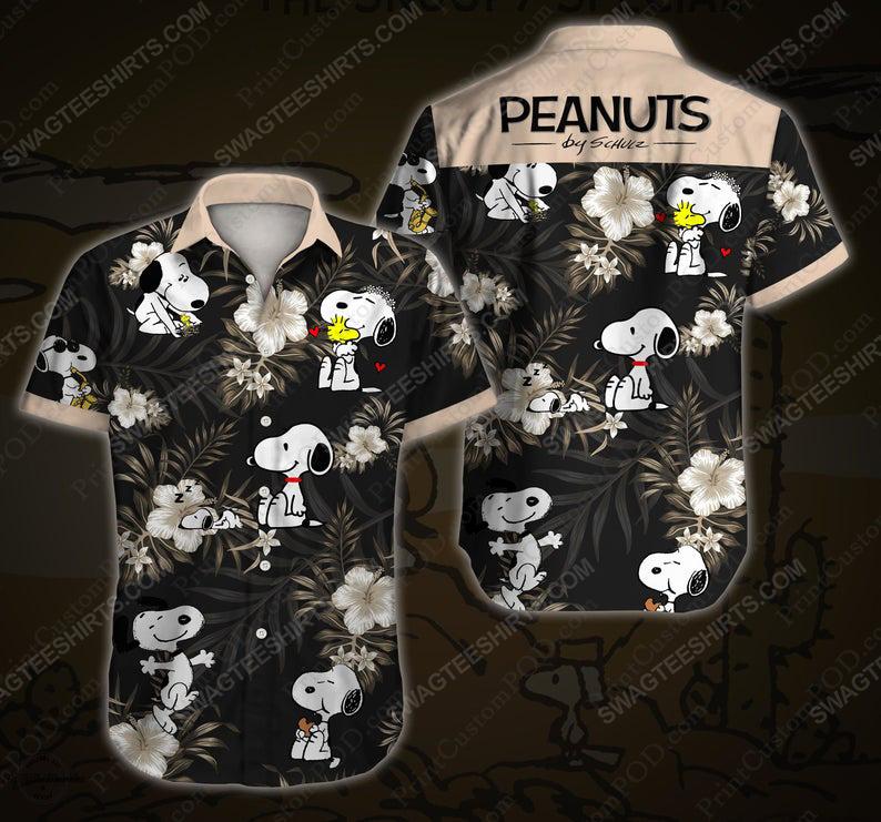 Tropical snoopy peanuts cartoon movie disney hawaiian shirt 1