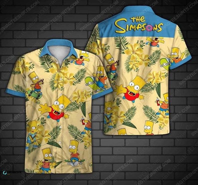 Tropical the simpsons family cartoon disney hawaiian shirt 1