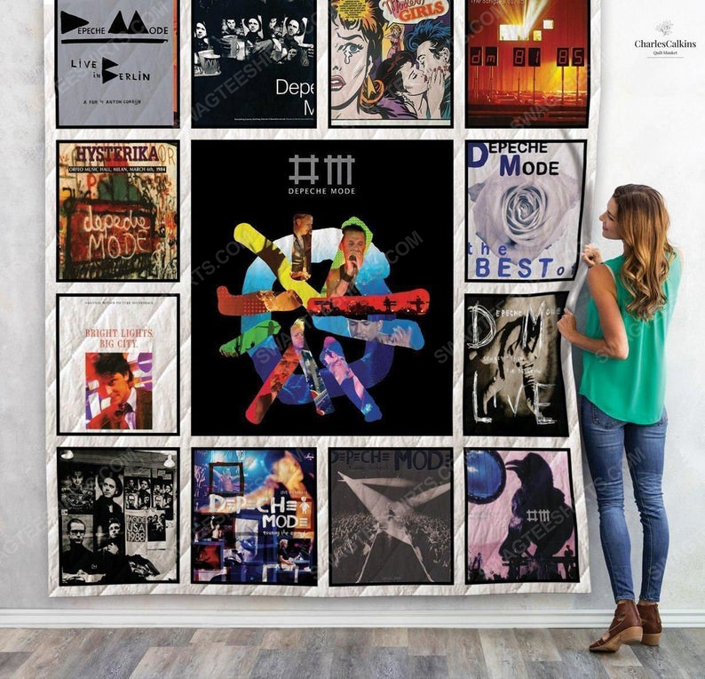 Vintage depeche mode albums cover rock band full printing quilt 1