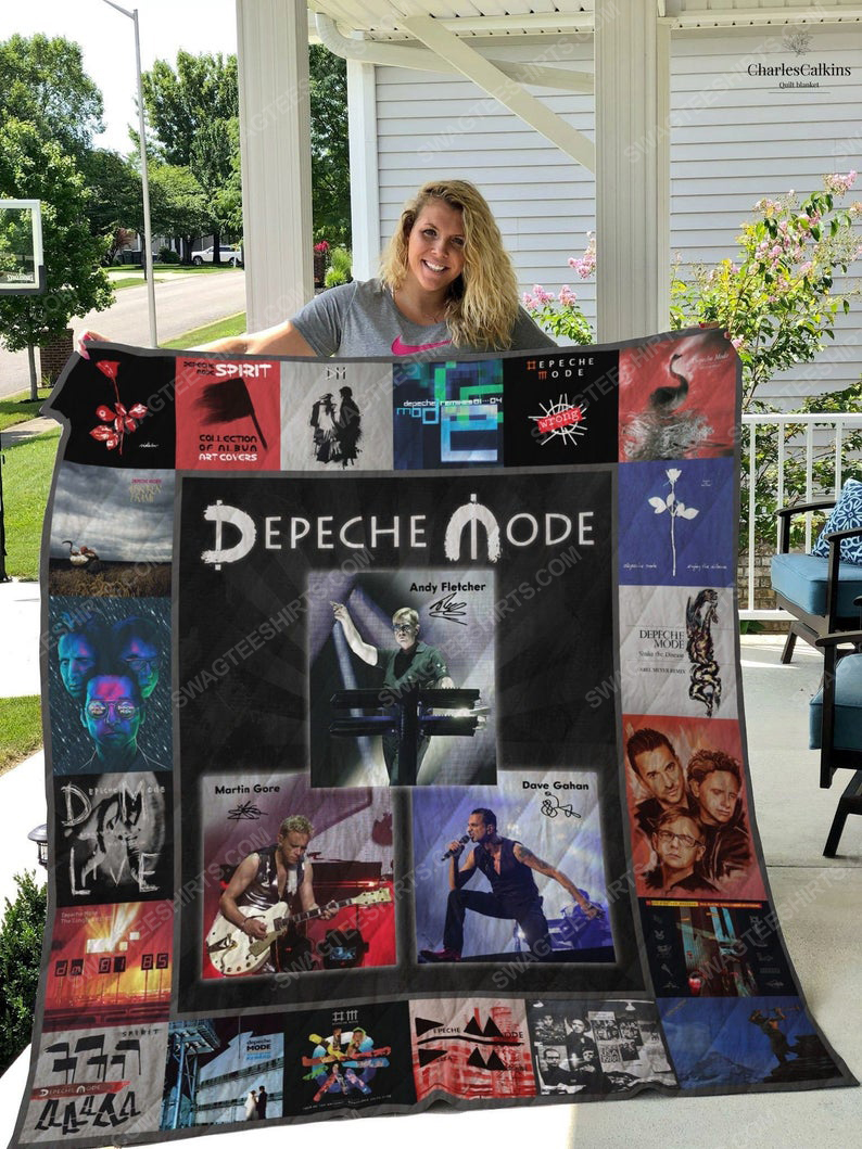 Vintage depeche mode rock band all over print quilt 1