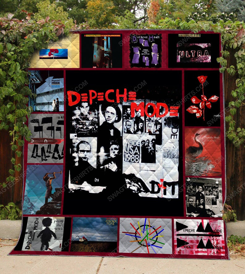 Vintage rock band depeche mode albums cover full printing quilt 1