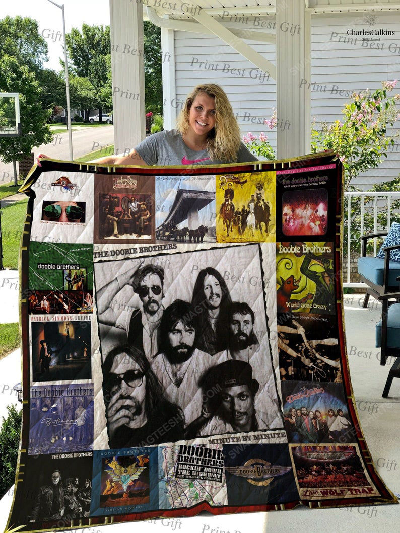 Vintage the doobie brothers albums cover full printing quilt 1