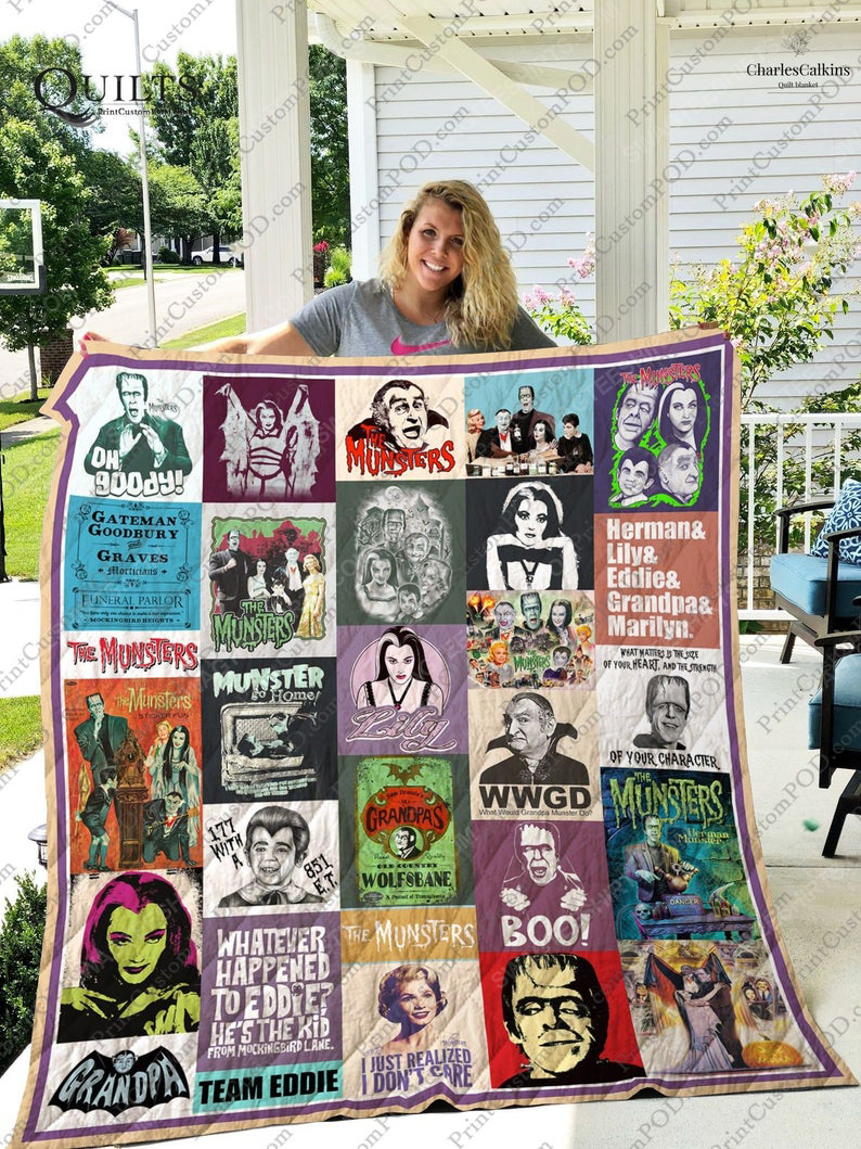 Vintage the munsters tv show all over print quilt 1