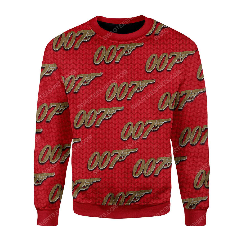 007 james bond ugly christmas sweater