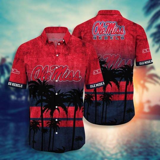 Ole Miss Rebels NCAA2 Hawaiian Shirt And Short - BBS