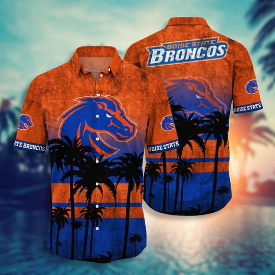 Boise State Broncos NCAA1 Hawaiian Shirt And Short - BBS
