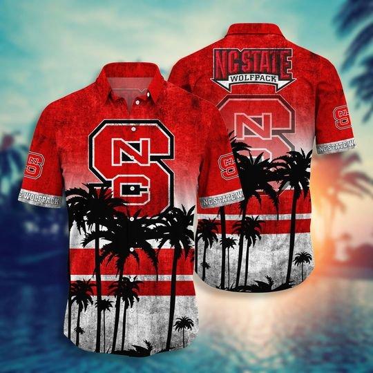 NC State Wolfpack NCAA hawaiian shirt and short - BBS