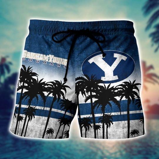 BYU Cougars NCAA3 Hawaiian Shirt And Short - BBS