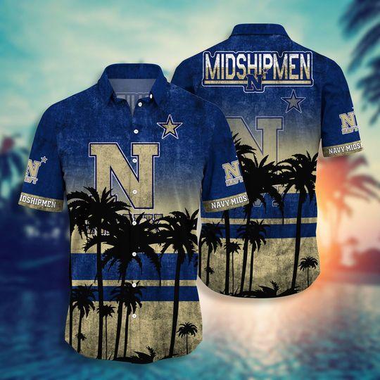 Navy Midshipmen NCAA3 Hawaiian Shirt And Short - BBS