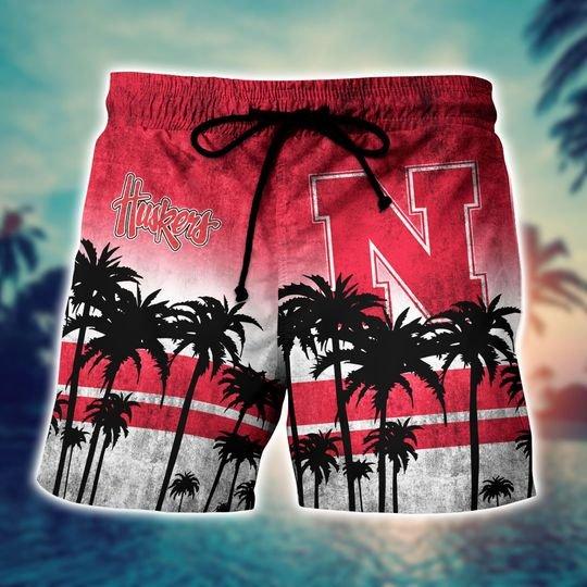 Nebraska Cornhuskers NCAA2 hawaiian shirt and short - BBS