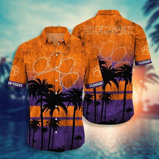 Clemson Tigers NCAA1 Hawaiian Shirt And Short - BBS