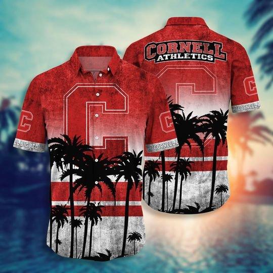 Cornell Big Red NCAA3 Hawaiian Shirt And Short - BBS