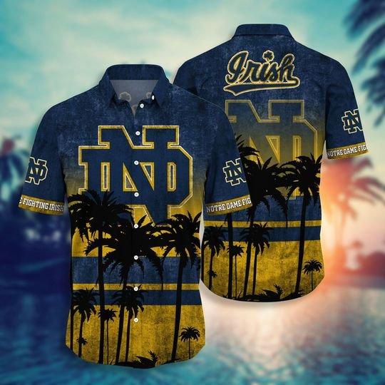 North Dame Fighting Irish NCAA1 Hawaiian Shirt And Short - BBS