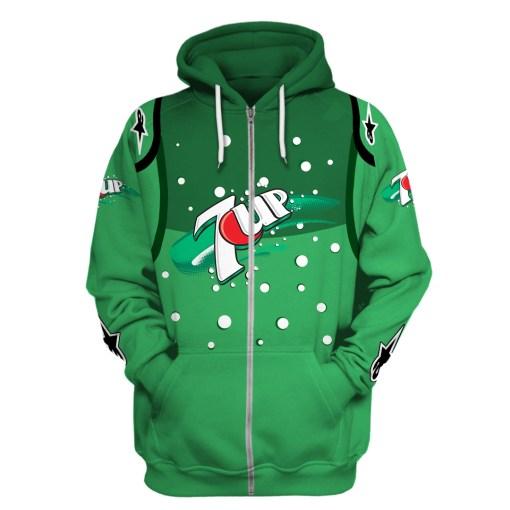 7 up racing team 3d hoodie