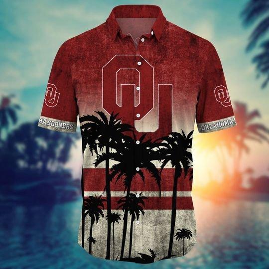 Oklahoma Sooners NCAA1 Hawaiian Shirt And Short - BBS
