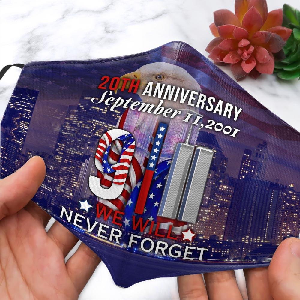 9 11 memorial 20th anniversary September face mask