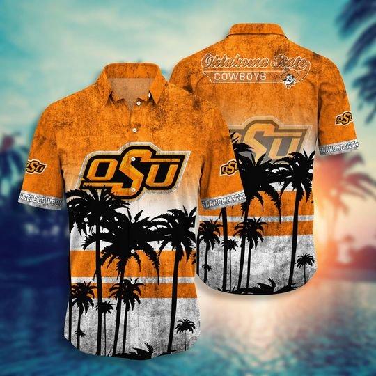 Oklahoma State Cowboys NCAA1 Hawaiian Shirt And Short - BBS