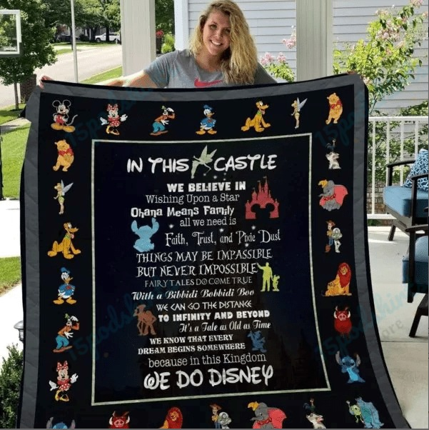A Special Gift For Fans Disney In The Castle Quilt
