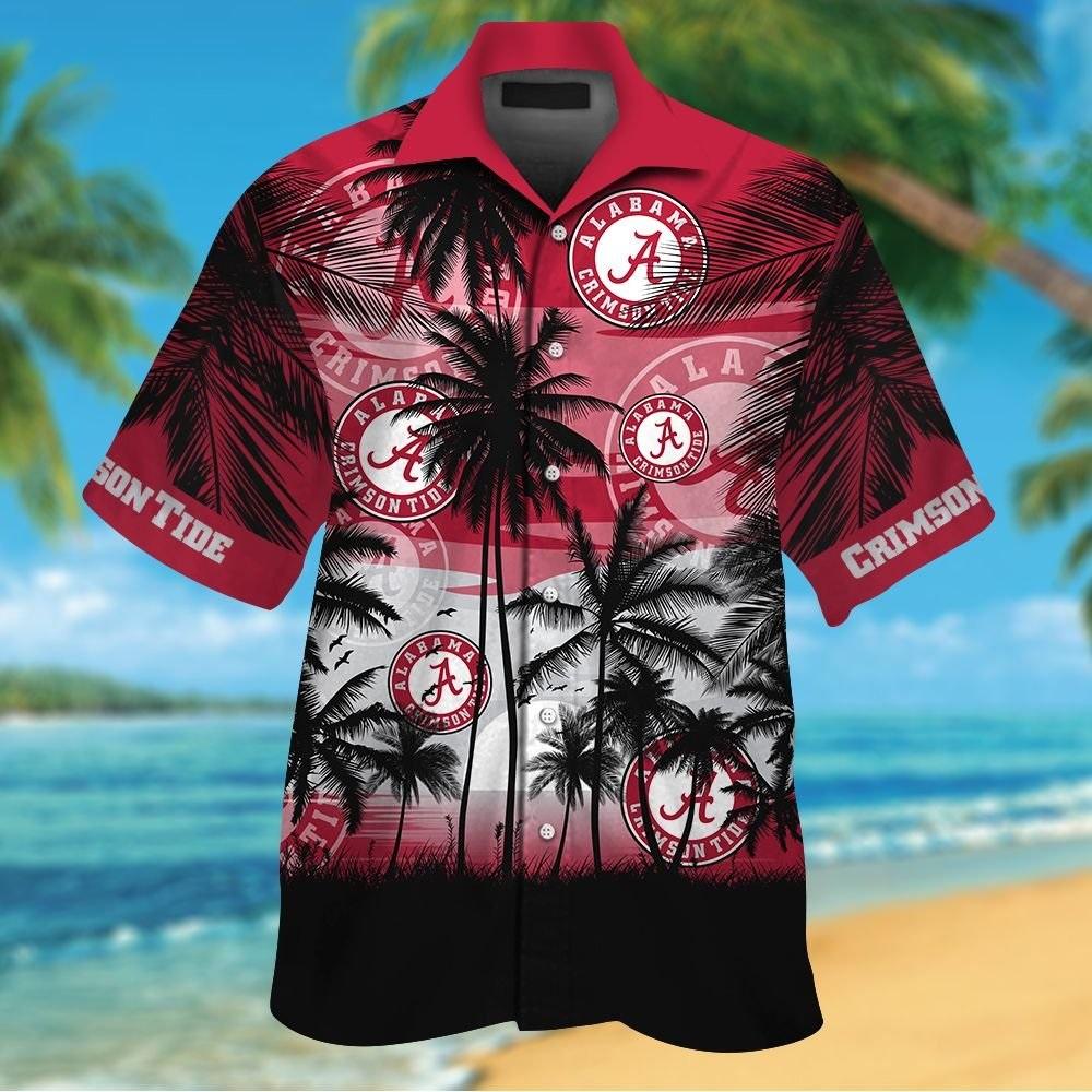 Alabama Crimson Tide tropical hawaiian shirt