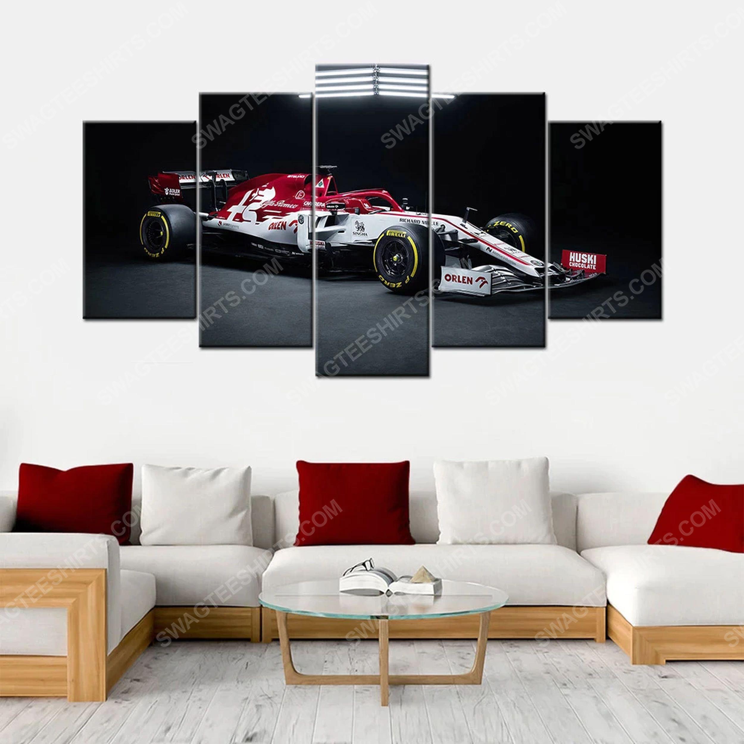 Alfa romeo c39 f1 racing car print painting canvas wall art home decor
