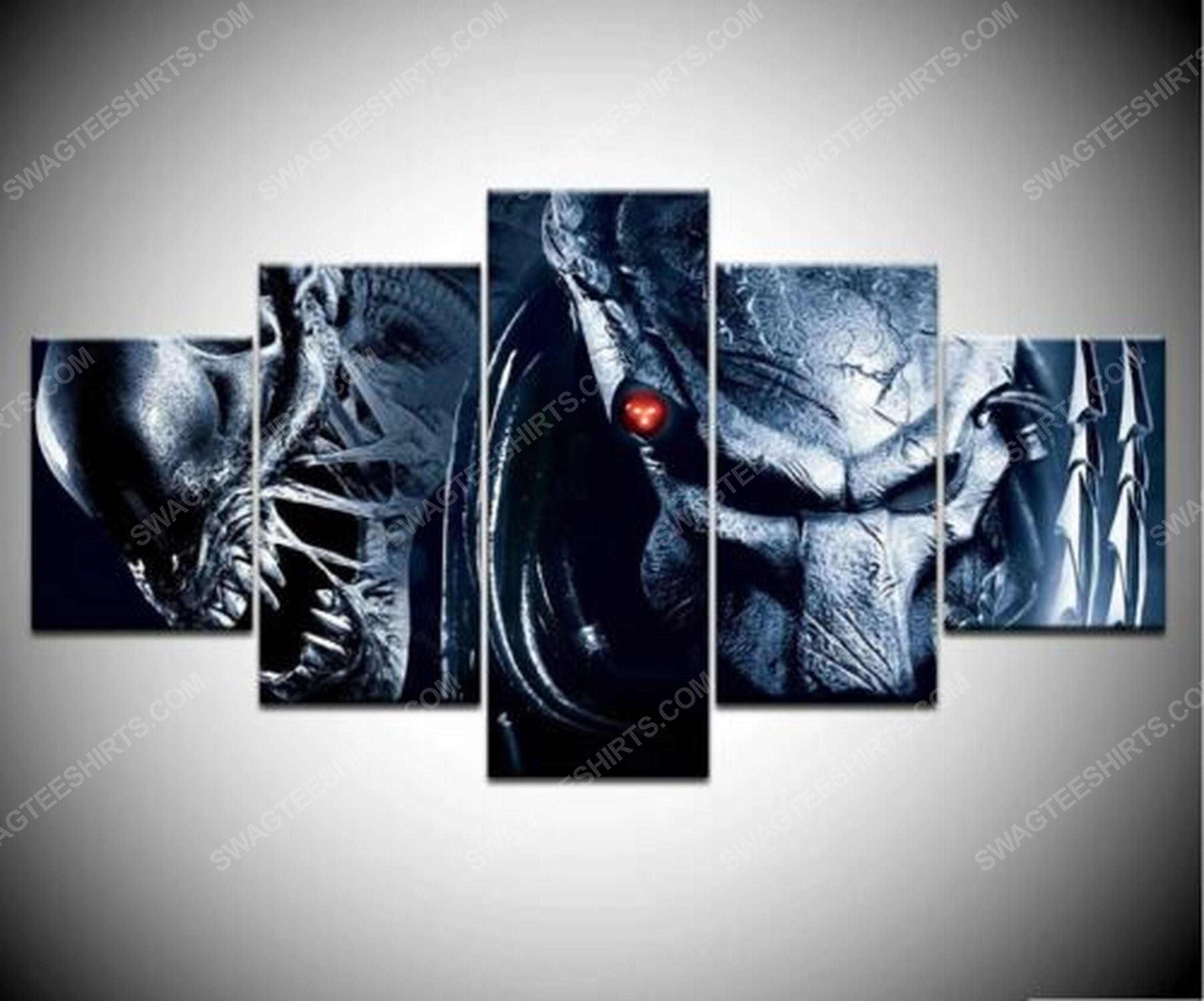 Alien and predator print painting canvas wall art home decor