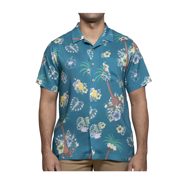 Alolan Exeggutor Pokémon Tropical Hawaiian Shirt
