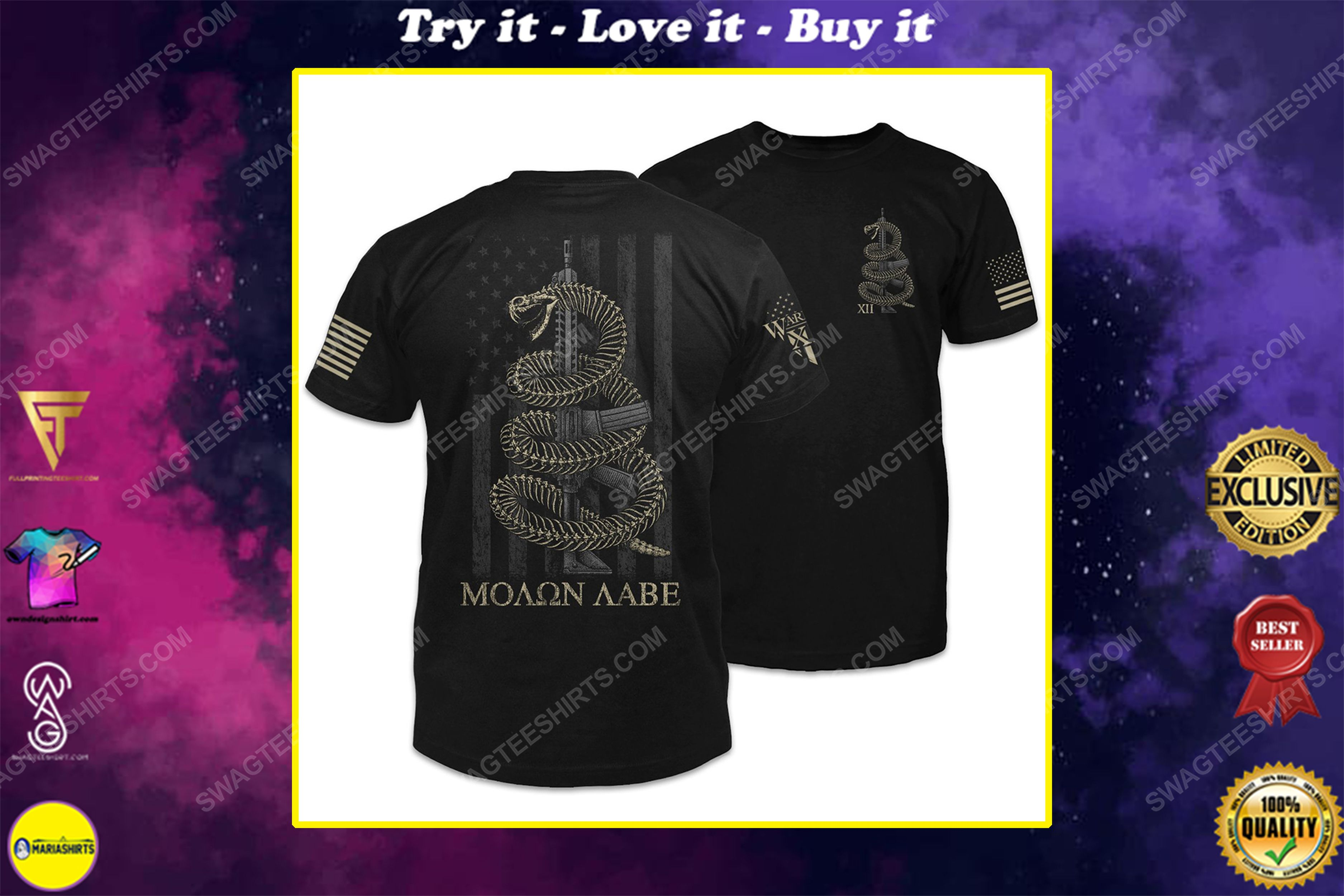 American flag gadsden snake come and take shirt