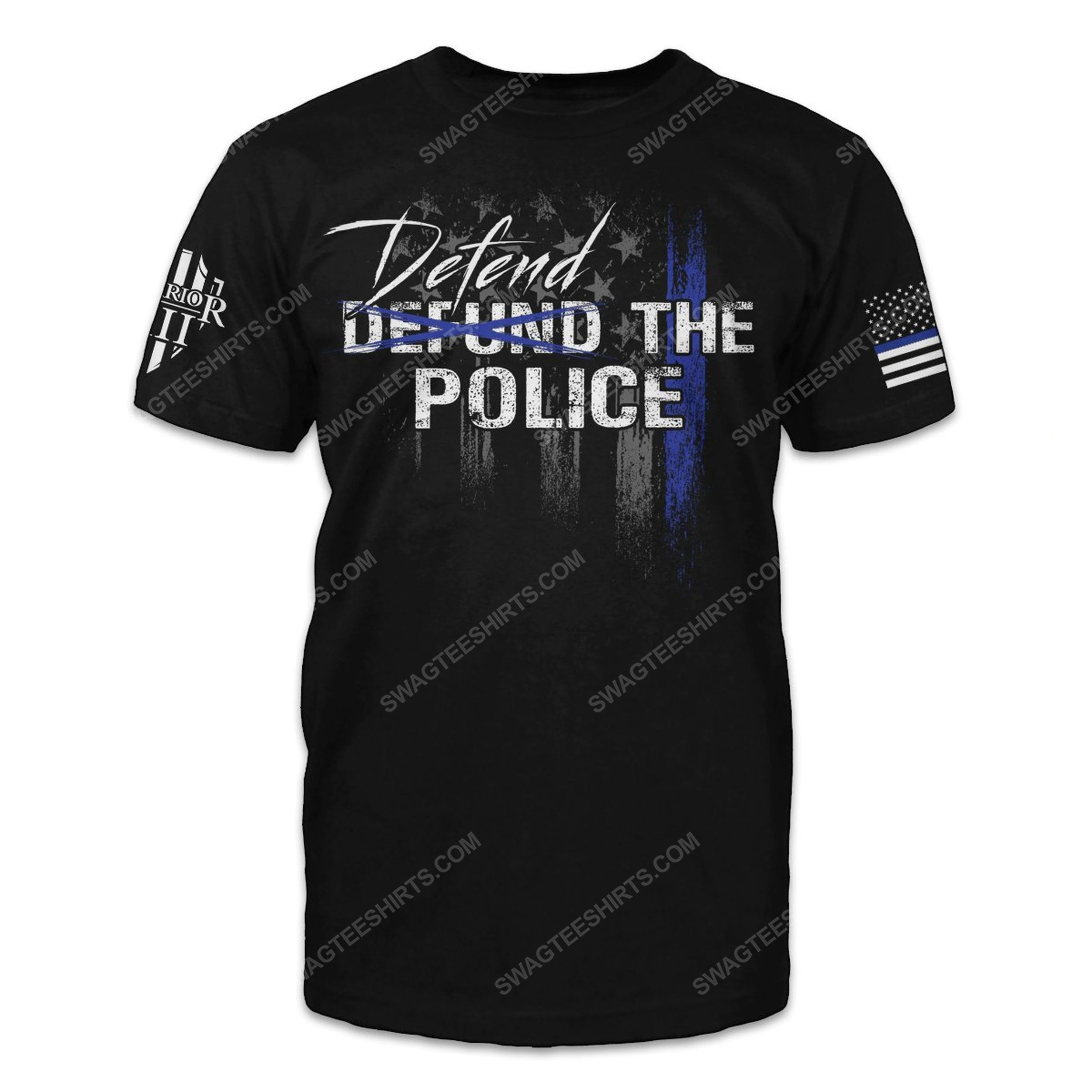American law enforcement defend the police shirt
