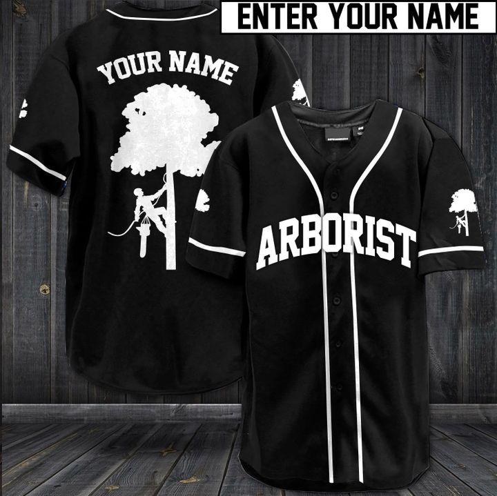 Arborist custom name baseball jersey1