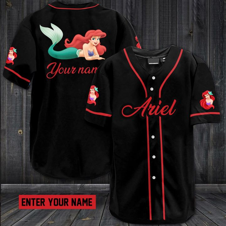 Ariel custom name baseball jersey