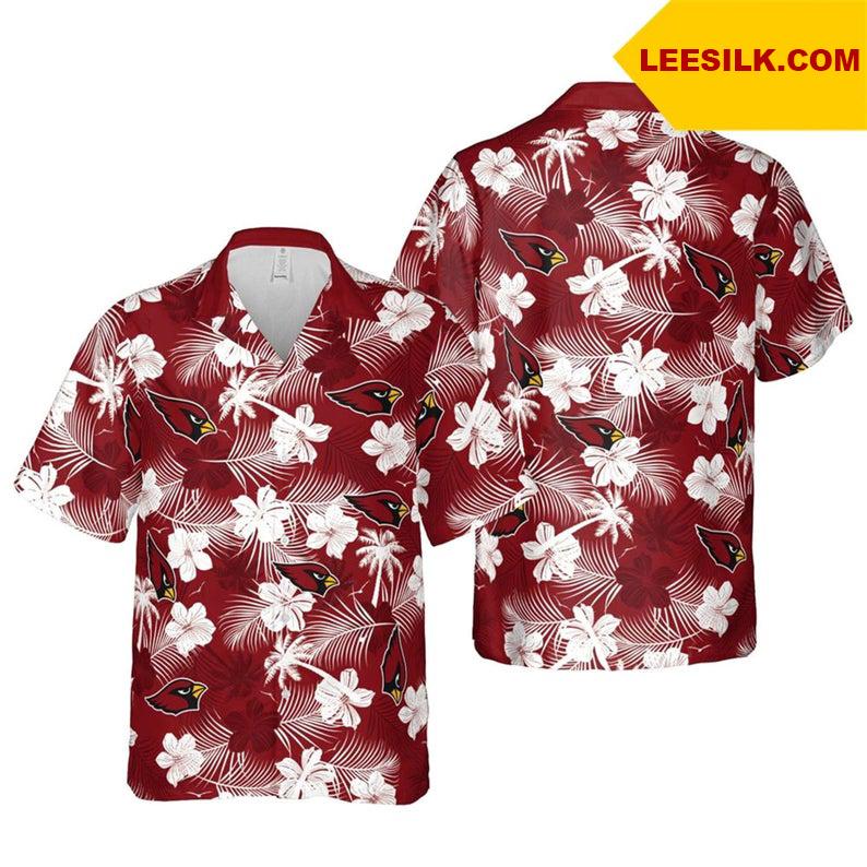 Arizona Cardinals NFL Floral hawaiian shirt
