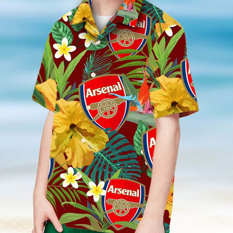 Arsenal fc hawaiian shirt