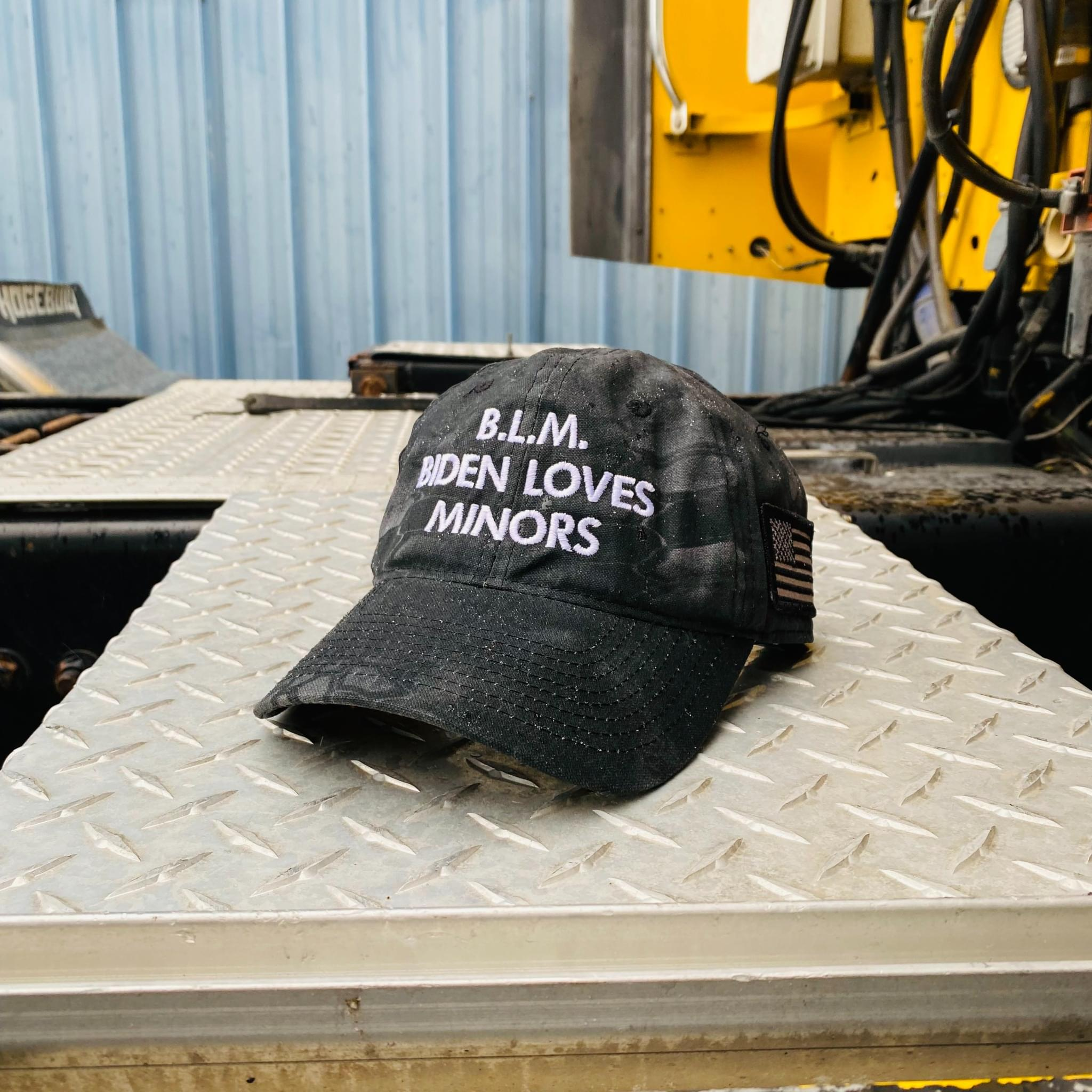 BLM Biden loves minors hat cap