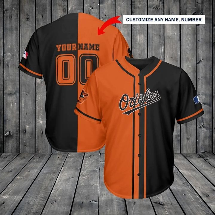 Baltimore Orioles Custom Name And Number Baseball Jersey
