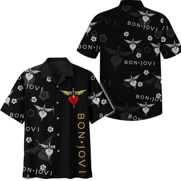 Bon Jovi hawaiian shirt