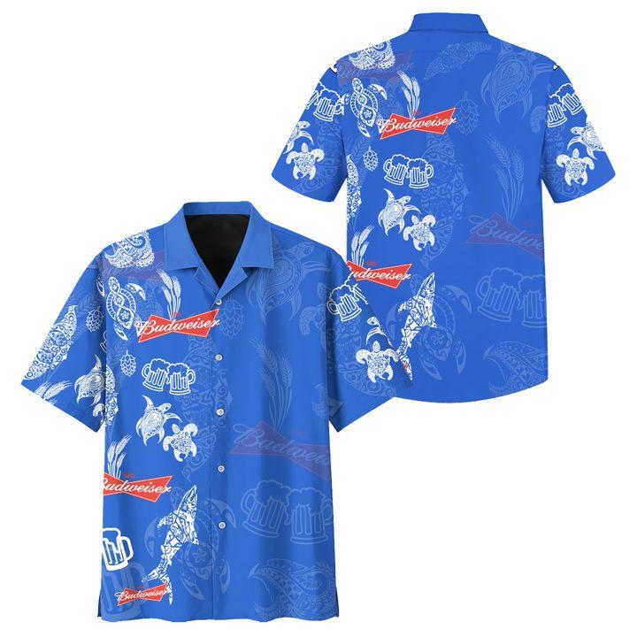 Budweiser hawaiian shirt