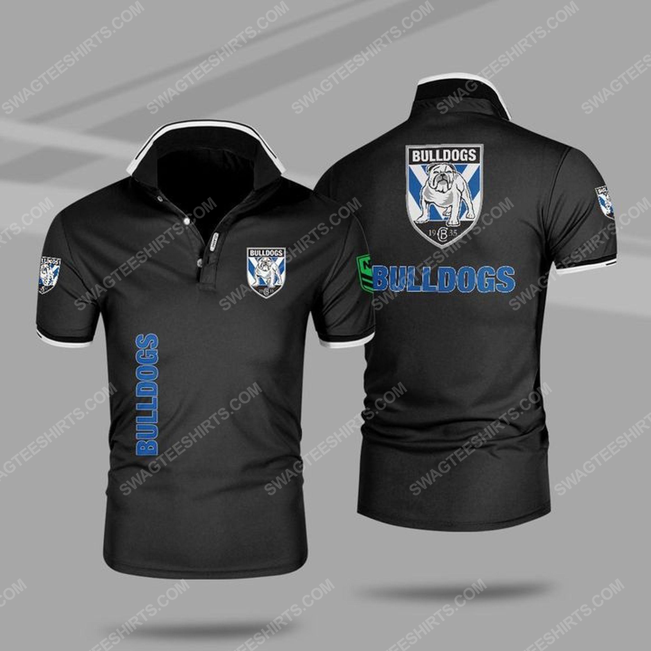 Canterbury-bankstown bulldogs all over print polo shirt - black 1