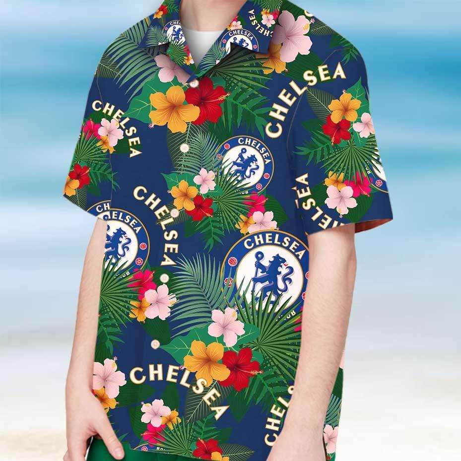 Chelsea fc hawaiian shirt