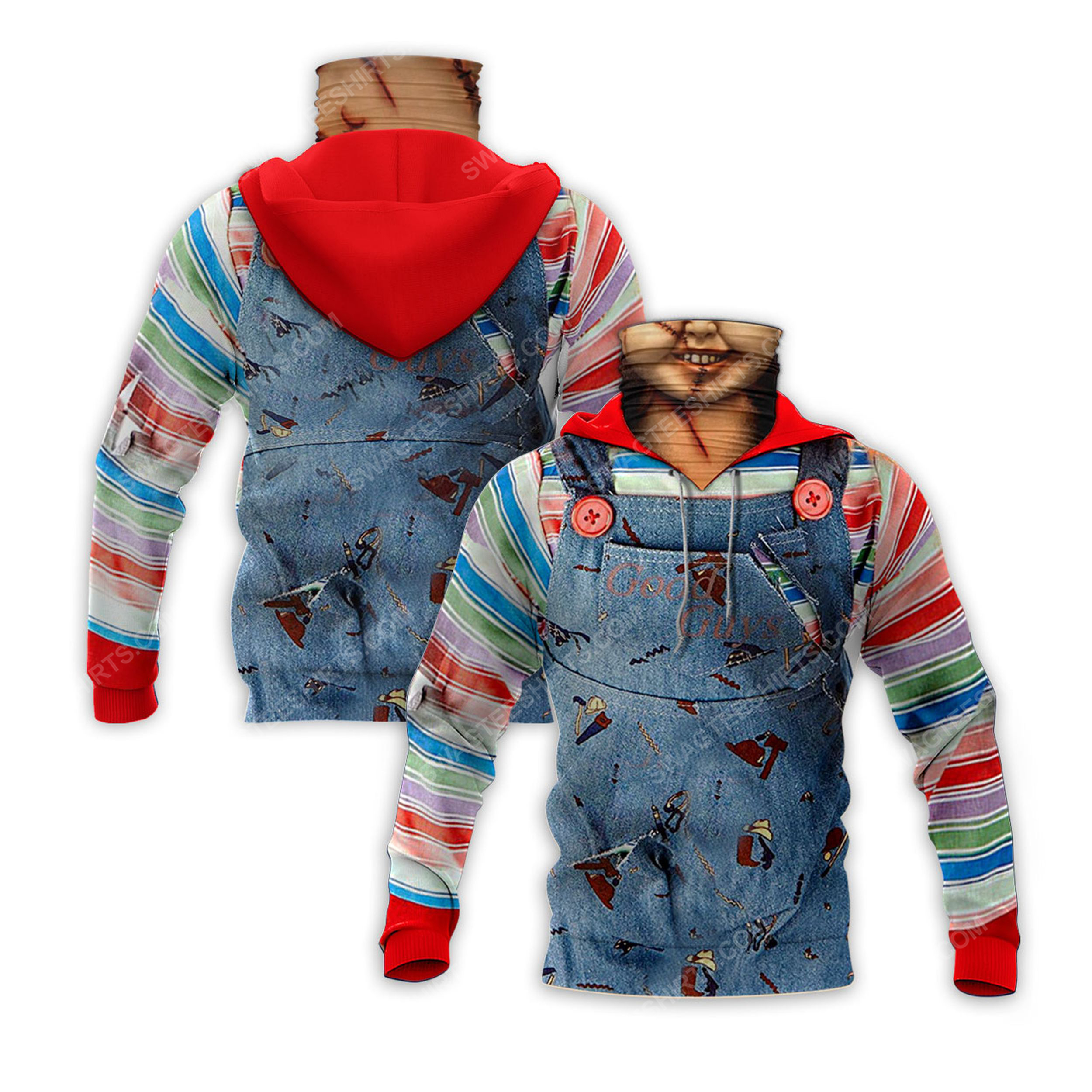 Chucky child's play for halloween full print mask hoodie 1(1)