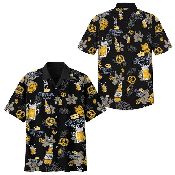 Corona extra hawaiian shirt