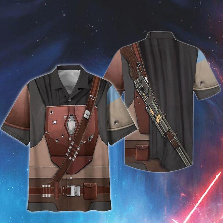 Cosplay star wars beskar style 2 hawaiian shirt