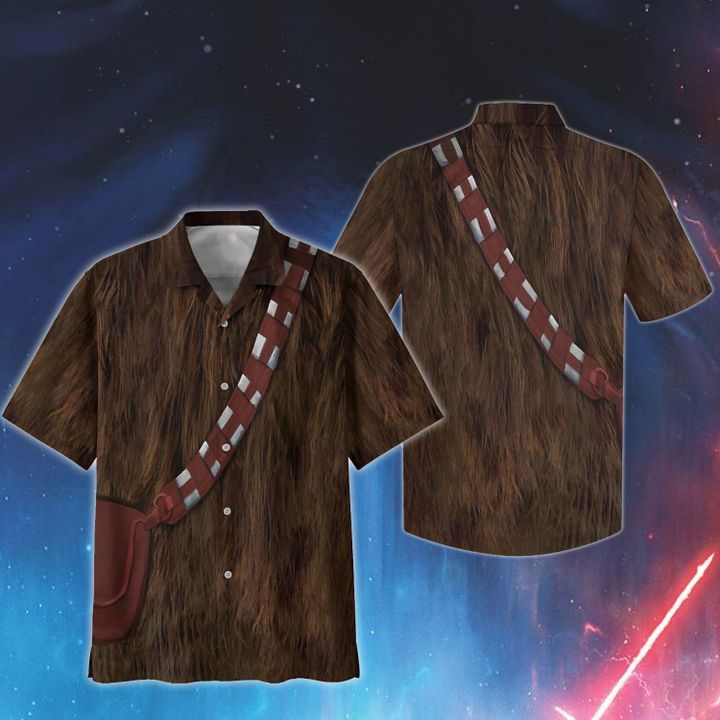 Cosplay star wars chewbacca hawaiian shirt