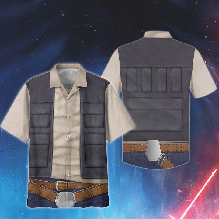 Cosplay star wars han solo hawaiian shirt