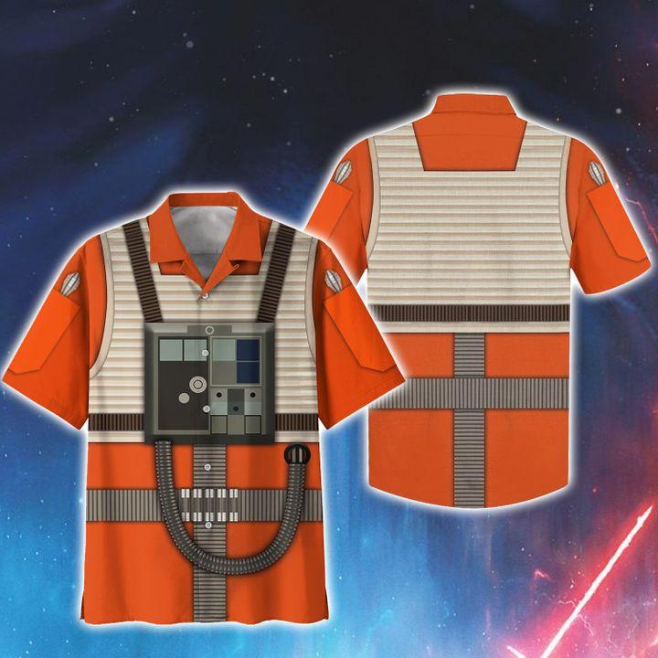 Cosplay star wars rebel pilot hawaiian shirt