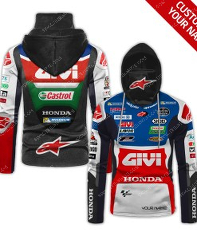 Custom name castrol power honda racing full print mask hoodie 1(1)