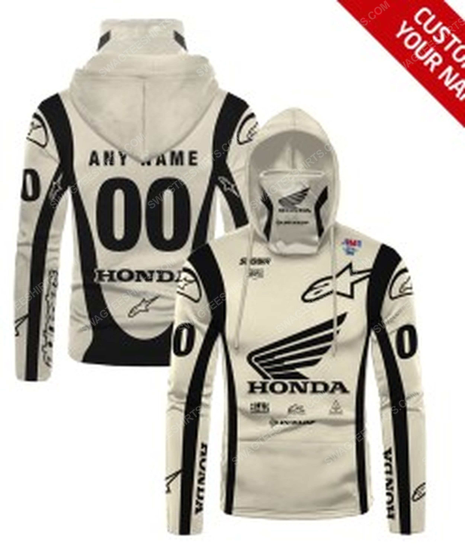 Custom name honda dunlop race full print mask hoodie 1(1)