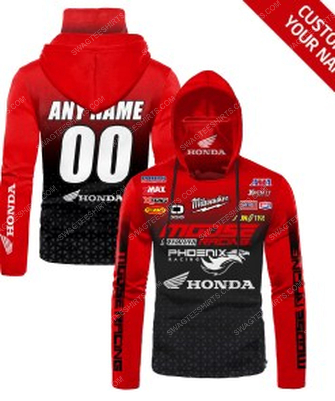 Custom name honda racing full print mask hoodie 1(1)